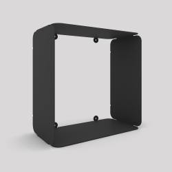 Cube-étagère en acier, carbone
