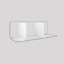 Serre-livres en acier aimantés à leur base, lot de 2, couleur blanc
