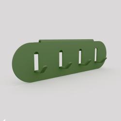 Porte-clefs en acier se fixe sur l'étagère ou sur le mur, vert