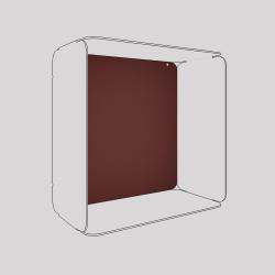 Son voile de fond couleur red brown métallisé
