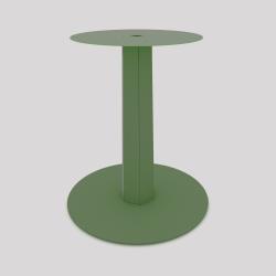 Pied central en acier, monopied, pour table haute ou basse, coloris vert