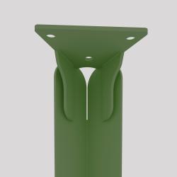 Haut du pied créatif à visser en acier couleur verte
