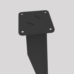 haut du pied profilé à visser en acier, coloris carbone