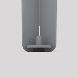 Bas du pied créatif à visser en acier, 2 hauteurs, couleur gris métallisé