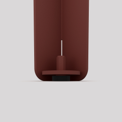 Bas du pied créatif à visser en acier, 2 hauteurs, couleur red-brown métallisé