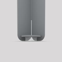 Bas du pied créatif à visser en acier couleur gris métallisé