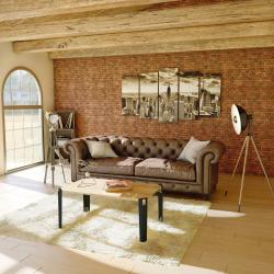 Les pieds de meuble, modèle Saphir, s'adaptent parfaitement pour monter une table basse