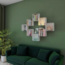 Associez plusieurs cubes-étagères muraux dans votre salon