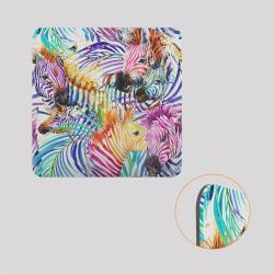 Voile de fond décoratif pour cube-étagère, motif zèbre