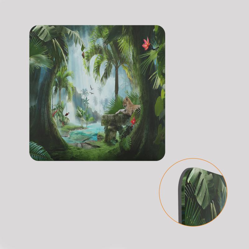 Voile de fond décoratif pour cube-étagère, motif jungle
