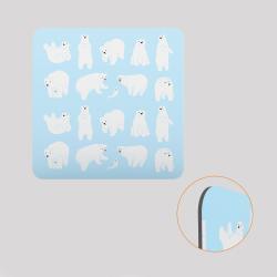 Voile de fond décoratif pour cube-étagère en acier, motif ours blanc sur fond bleu